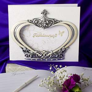 ROYAL WEDDING COLLECTION CROWN DESIGN GUEST BOOK PHOTO HOLDER