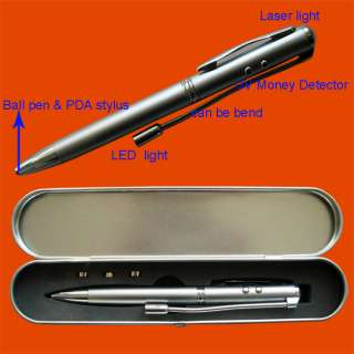in 1 Laser Pointer/LED/Stylus/Pen/UV Money Detector