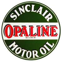 Vintage Sinclair Opaline Oil sticker decal sign 3 dia.