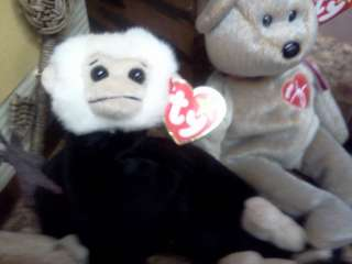 37 Retired Beanie Babies LOT Valentino Right Lefty Bear Dog Signature