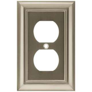 Liberty 1 Gang Duplex Architectural Satin Nickel Wall Plate W065ZMC