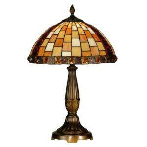 Lighting Tiffany Baroque Collection 23 in. Antique Bronze Table Lamp