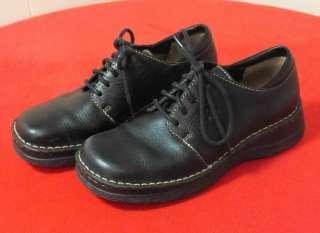 Born Black Leather Lace Up Ladies Shoes US 7.5 EU 38.5 Satisfaction