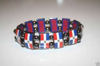 DOMINICAN REPUBLIC COUNTRY FLAG METAL SPORTS BRACELET