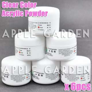 pcs Clear Color Crystal Acrylic Powder Nail Art #128