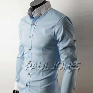 NWT PJ Mens Slim Fit Casual Dress Shirts Button Down TOPS IN Size XS L