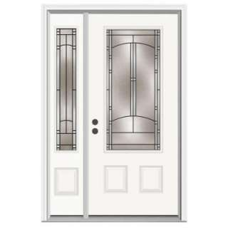 JELD WEN Idlewild 36 in. x 80 in. Primed White Prehung Right Hand 3/4