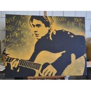 Nirvana Kurt Cobain Bild Pop Art DVD handgemalt  Küche
