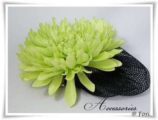 Big Green Chrysanthemum Barrette Clip Snood Hair Net Hair Band So Sexy