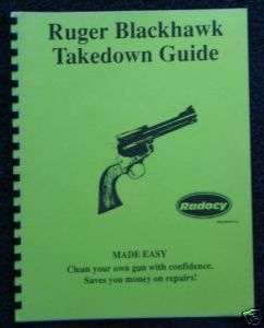 Ruger Blackhawk Revolvers Assembly Dis.Guide Radocy