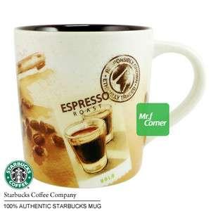 10oz starbucks brown Espresso Roast Beans travel cup mug box 2011 NEW