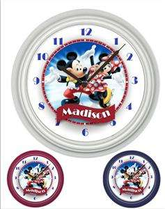 Personalized Mickey and Minnie Mouse Wall Clock