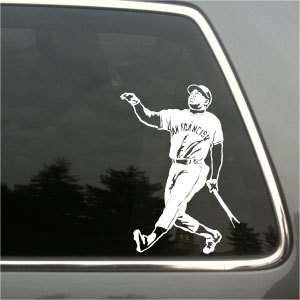 Willie Mays SF Giants car truck decal die cut sticker