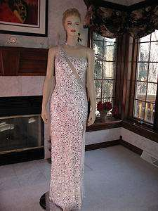 Precious Formals P8861 White Sequined Pageant Prom Gown 2