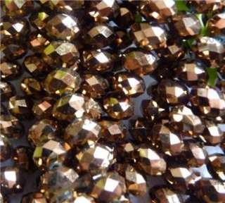 4x6MM Copper color Swarovski Crystal Gem Bead 1000pc