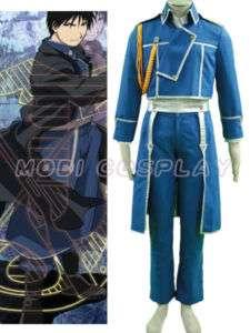Full metal Alchemist Roy Mustang Cosplay Costume NEW