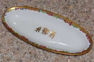 Antique 1912 Royal Austria Artist Signed Bread Bun Dish