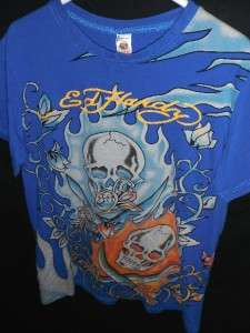 MENS M L AUTHENTIC DON ED HARDY CHRISTIAN AUDIGIER TOP SKULL TEE SHIRT