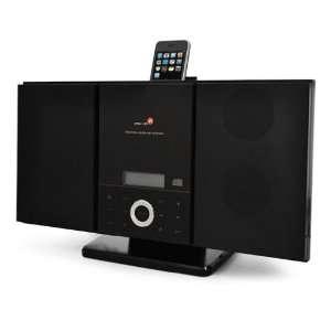CD 3066 Vertikale Micro Anlage mit Apple iPhone/iPod Docking schwarz