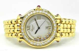ladies 18k y g chopard diamond bezel watch serial sty le gender size