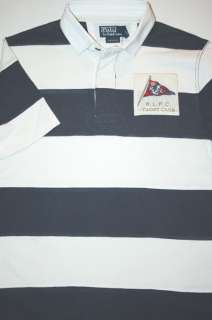 Ralph Lauren Custom Fit Sizes L & M Mens Yacht Club Rugby Shirt