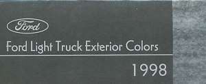 1998 Ford Paint Color Brochure Truck F 150 Ranger Vans