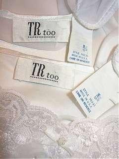 Nwot Vtg Short White FREDERICKS Bridal Lace Nightgown & Cape Robe