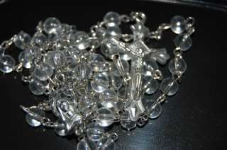 Clear Glass Bead BEAUTIFUL LOOK Baptism Communion Confirmation