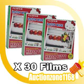 30PCS Hello Kitty Wide Film for Fuji Instant Instax 210 Polaroid