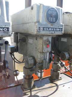 CLAUSING MULTI STATION (3) HEAD DRILL PRESS TABLE