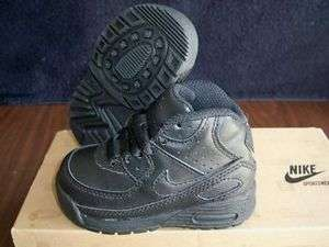 NIKE LITTLE MAX 90 BLACK SHOES BABY/TODDLER BOYS SIZE 5