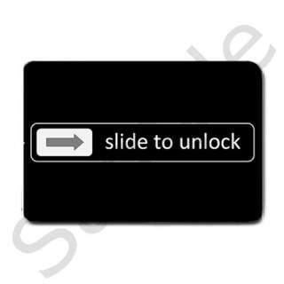Black Front Door Mat Slide to Unlock Doormat Welcome Floor Mat