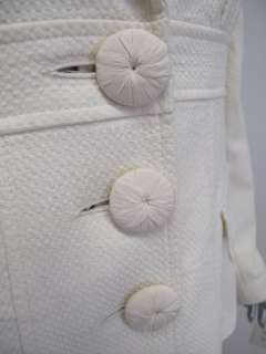 Nanette Lepore Cream Long Sleeve Button Down Pocket Jacket 8
