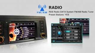 Car Monitor GPS Video Radio Navigation DVD Player for BMW 5 Series E39