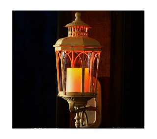 Indoor Outdoor Wall Mount Flameless LED Candle Lanterns with Timer