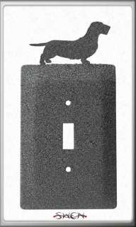 Wirehaired Dachshund Dog Metal Light Switch Cover