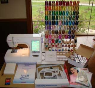 Janome 10001 Sewing Embroidery Machine W/TONS EXTRAS & Digitizer Pro