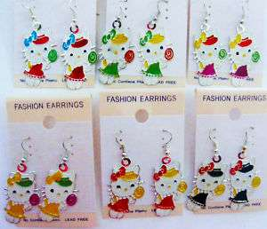 Hello Kitty Lollipop Earrings Light weight New