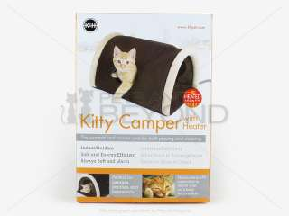 LITTLE CAT/PET KITTY CAMPER OUTDOOR INDOOR HEATED BED/PAD/MAT SHELTER