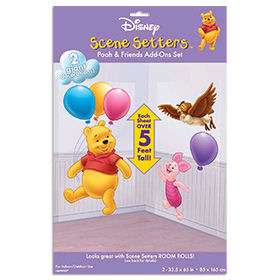 Huge Disney Winnie The Pooh & Piglet Party Scene Setter