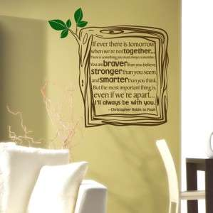 Children Quote Decal   Winnie The Pooh Quote   Vinyl Wall Decal