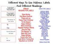 Cars Return Address Labels Favor Tags Gift Buy 3 Get 1 Free