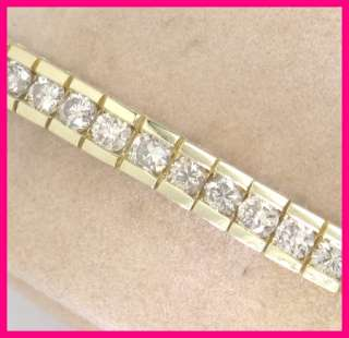 14kyg Round Diamond Tennis Bracelet 4.76 carats