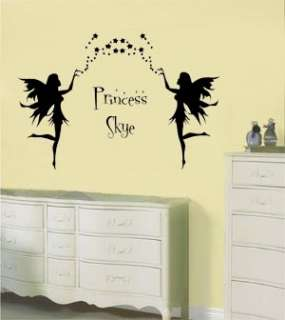 Fairys Personalised Vinyl Wall Mural Art Sticker/Decal