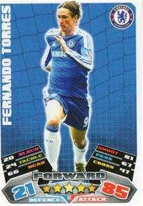 Topps Match Attax 2012 Chelsea 11/12 Fernando Torres Base Card