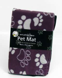 Paw Print Design Fleece Pet Mat / Blanket / Cover (90cm x 70cm