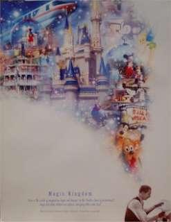 DISNEY POSTER ~ KINGDOM 100 YEARS OF MAGIC CELEBRATION