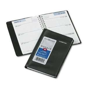 Day Minder Weekly Appointment Book, 3 3/4 x 6, Black