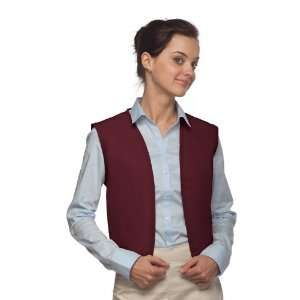 DayStar 740NP No Pocket Uniform Vest Apron   Maroon