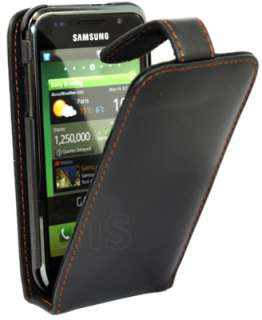 BLACK FLIP LEATHER CASE II FOR SAMSUNG GALAXY S i9000